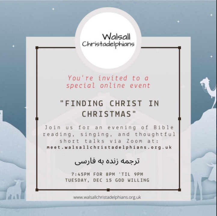 Finding Christ in Christmas – 15th December, 7:45pm