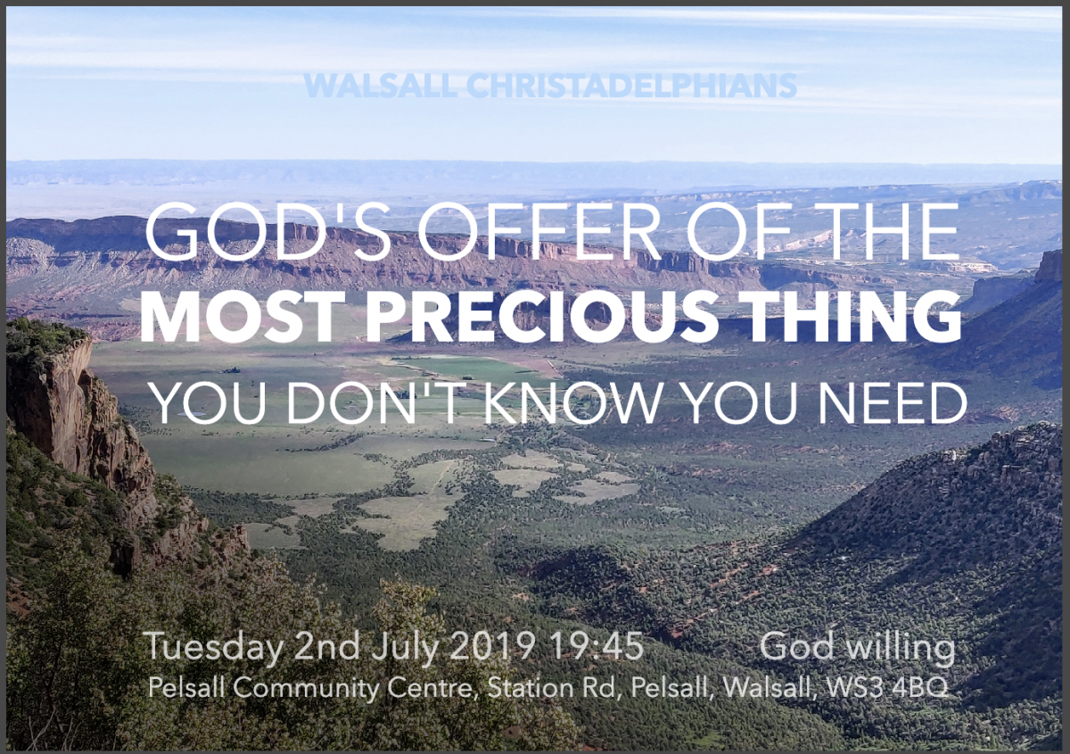 God's Offer of the Most Precious Thing You Don't Know You Need